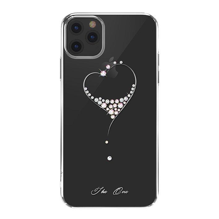 Kingxbar Wish Series silikonové pouzdro s original Swarovski crystals pro iPhone 11 Pro silver