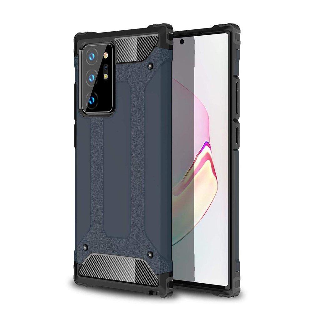 Hybrid pancierové polykarbonátové púzdro preSamsung Galaxy Note 20 Ultra blue