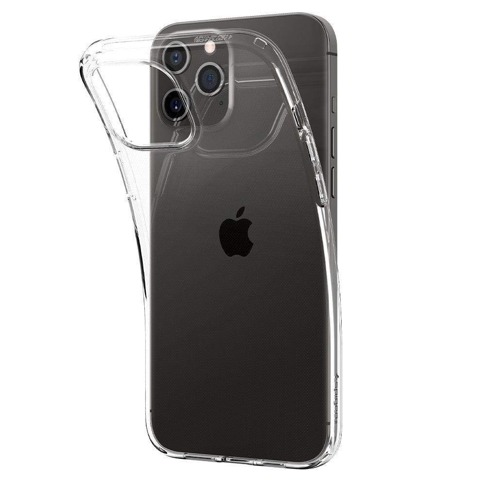Spigen Liquid Crystal silikonové pouzdro na iPhone 12 / 12 Pro Crystal Clear