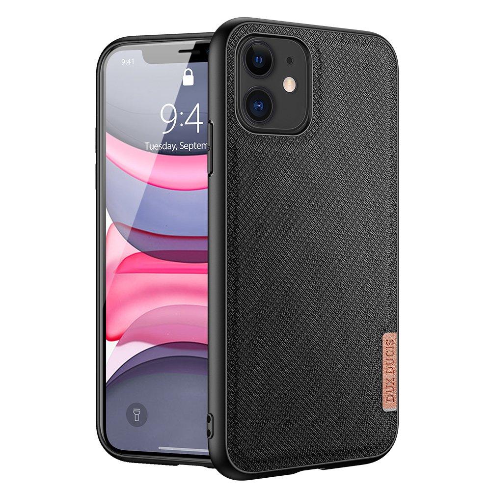 Luxusní pouzdro Dux Ducis Fino Nylon ,  iPhone 11 , černá 6934913053478