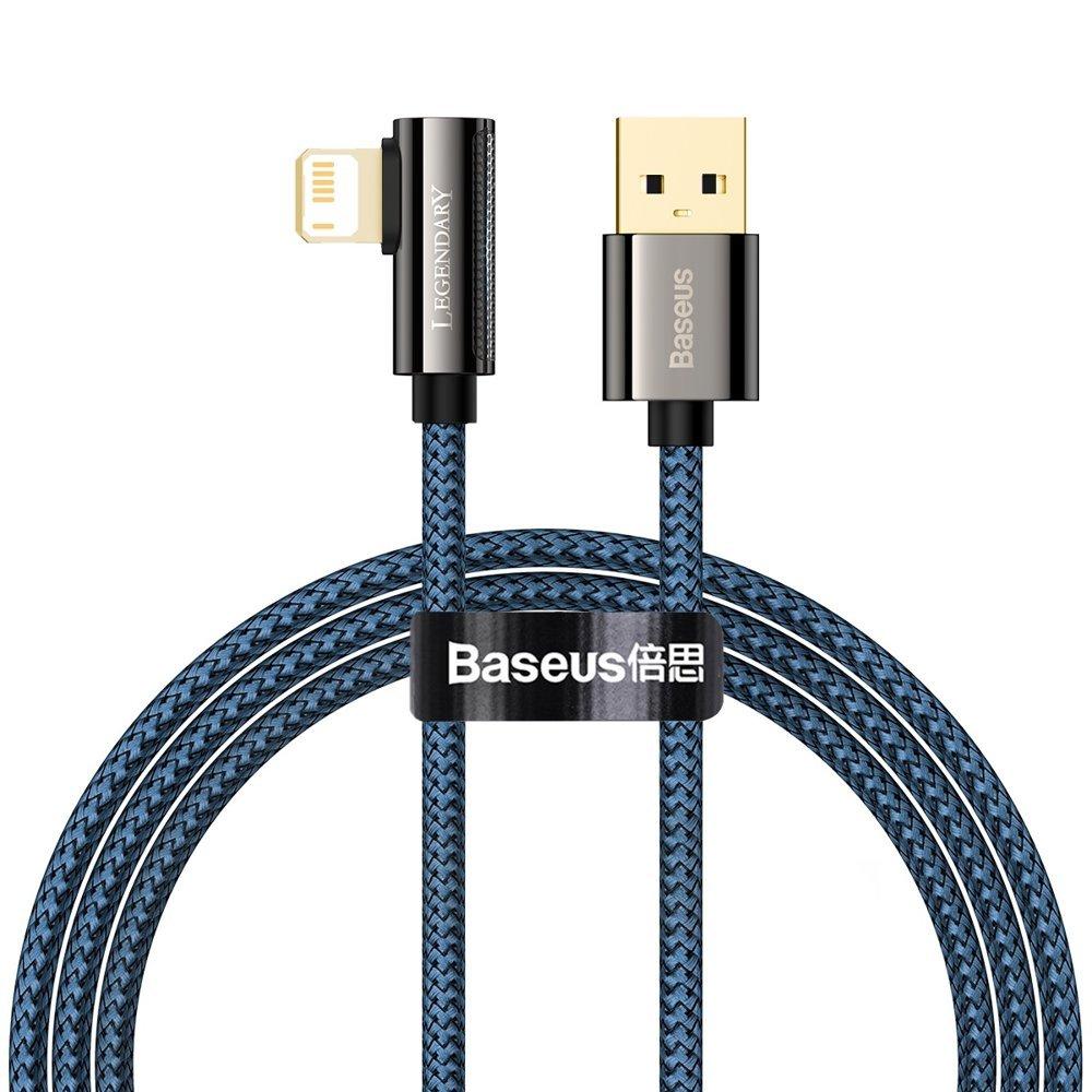 Baseus Legend extra odolný nylonem opletený kábel USB / Lightning 2.4A 1m blue