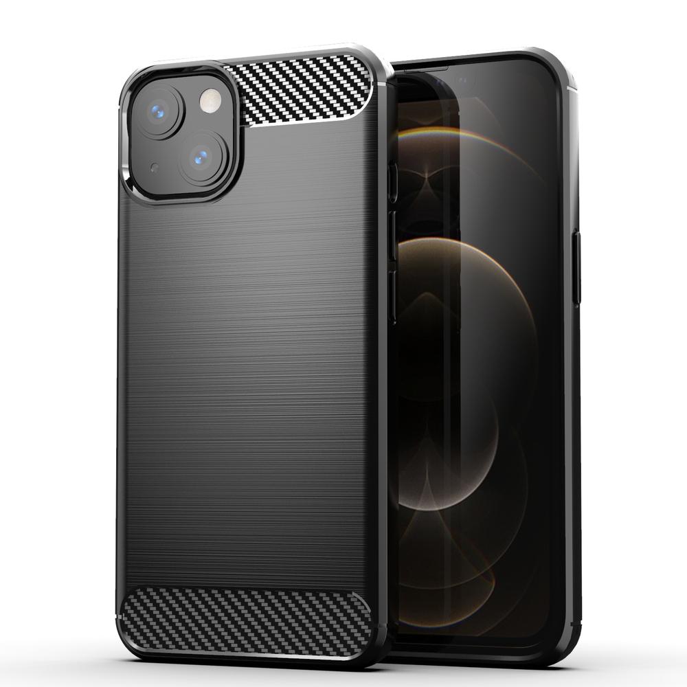 Carbon silikónové puzdro naiPhone 13 Mini black