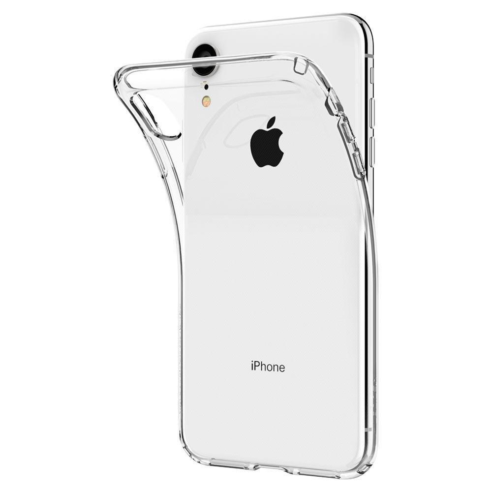 Spigen Liquid Crystal silikonové púzdro pre iPhone XR Crystal Clear