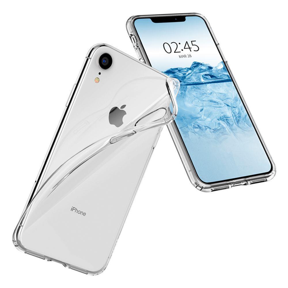 Spigen Liquid Crystal silikonové pouzdro na iPhone XR Crystal Clear