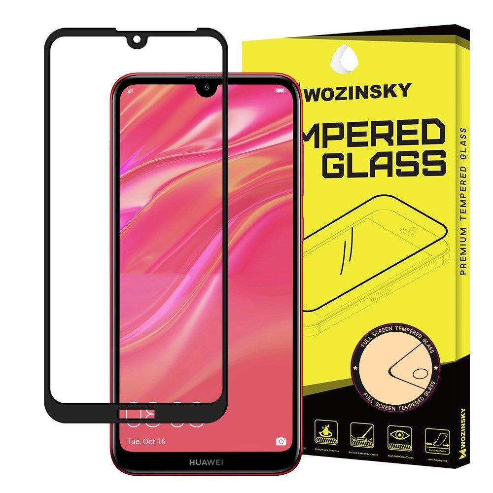 Wozinsky celoplošné temperované tvrzené sklo Y6 2019 / Y6 Pro 2019 black