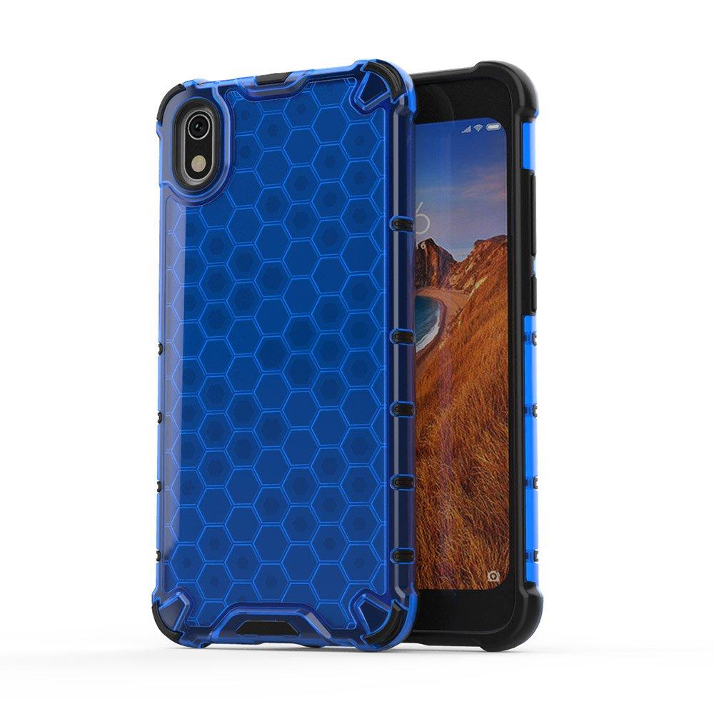 Honeycomb panceřové pouzdro se silikonovým rámem pro Xiaomi Redmi 7A blue