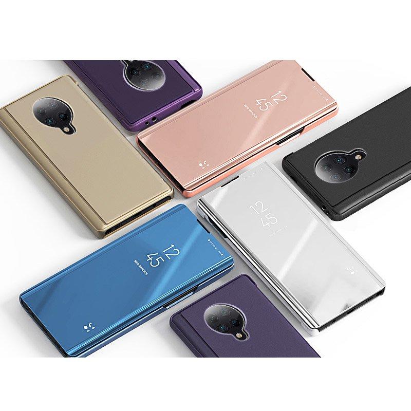 Knížkové pouzdro na Xiaomi Poco F2 Pro blue s průhlednou přední stranou