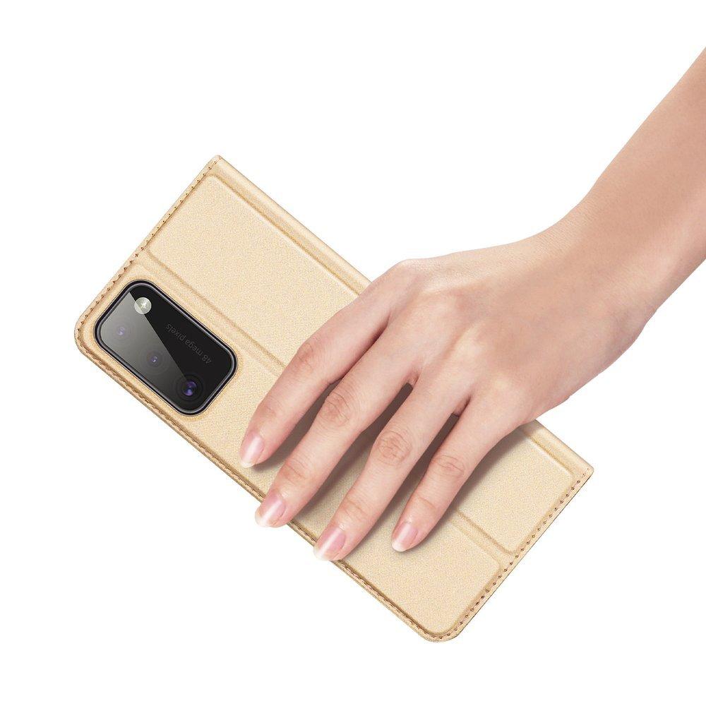 DUX DUCIS Skin knížkové pouzdro na Samsung Galaxy A41 golden