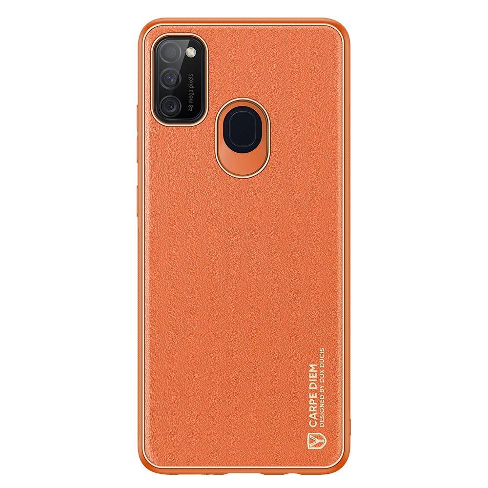 Dux Ducis Yolo púzdro z Eko kože pre Samsung Galaxy M21 / Galaxy M30s orange