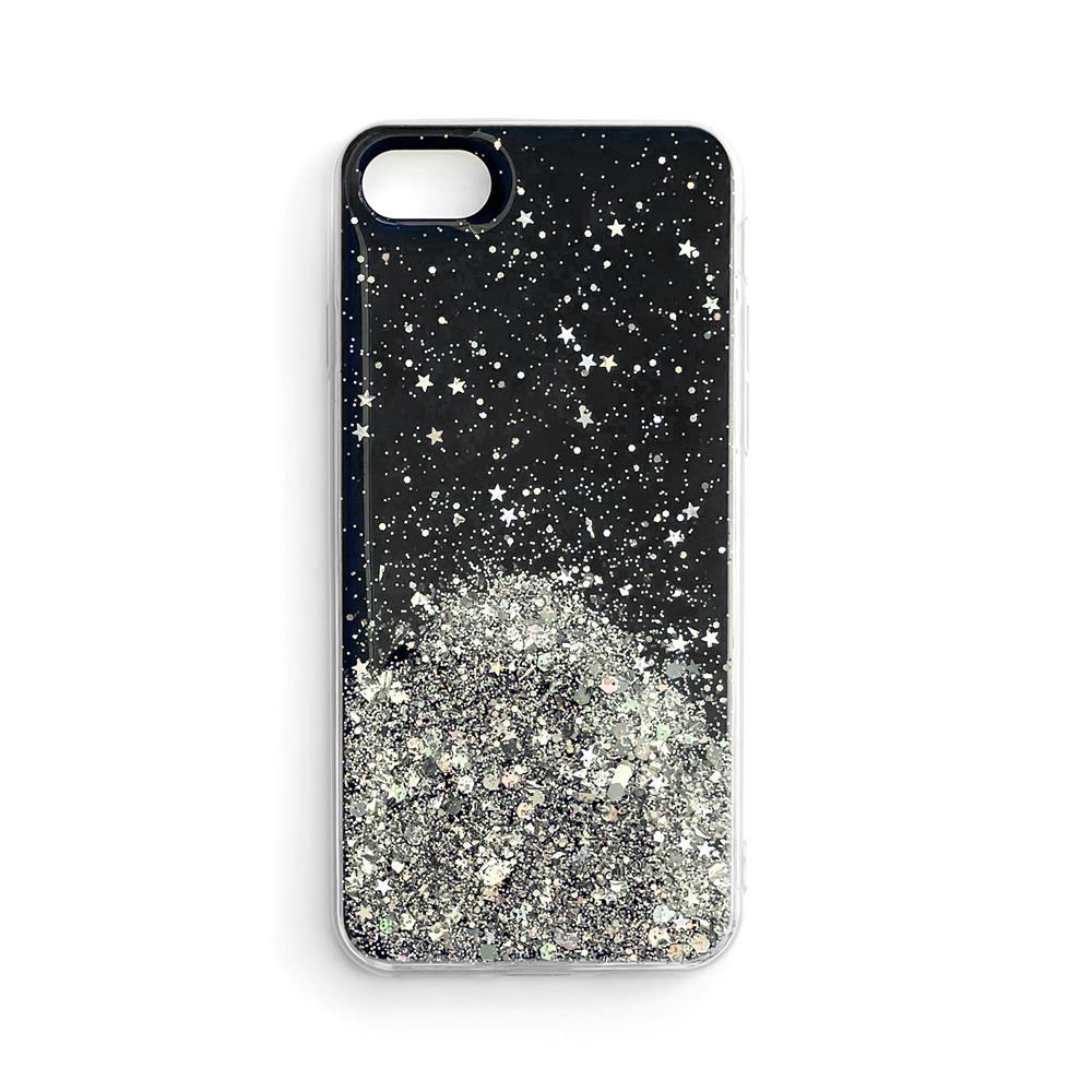 Wozinsky Star Glitter silikónové puzdro pre Samsung Galaxy S21 Ultra 5G black