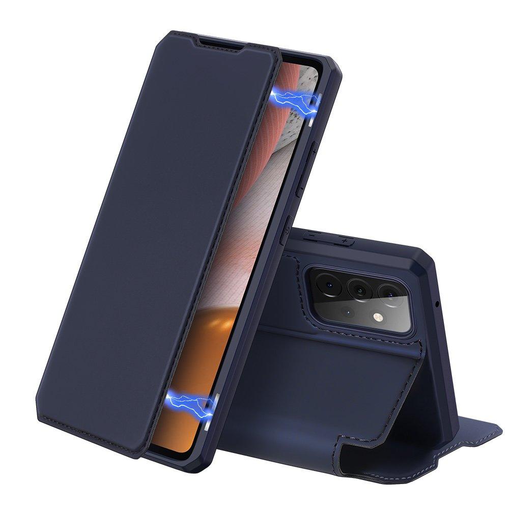 Flipové pouzdro Dux Ducis skin na Samsung Galaxy A72 4G , modrá 6934913053416