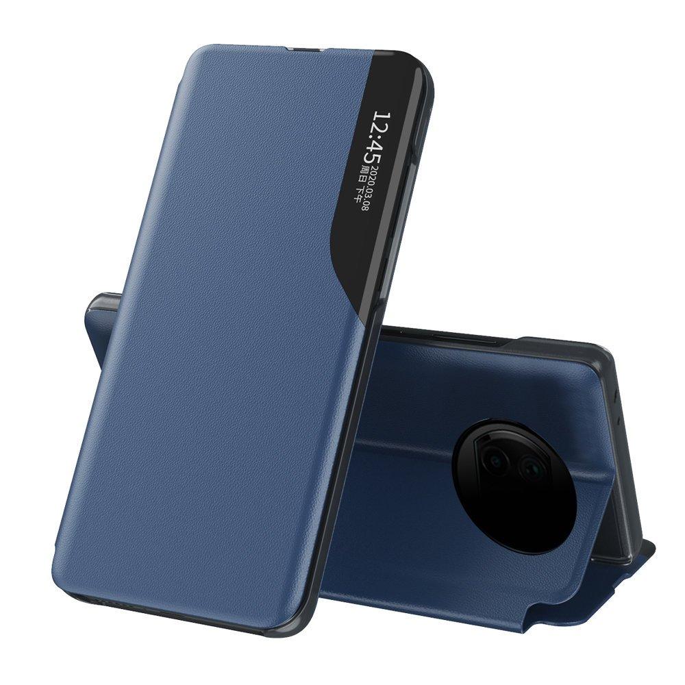 Knížkové puzdro s imitáciou kože preXiaomi Redmi Note 9T 5G blue