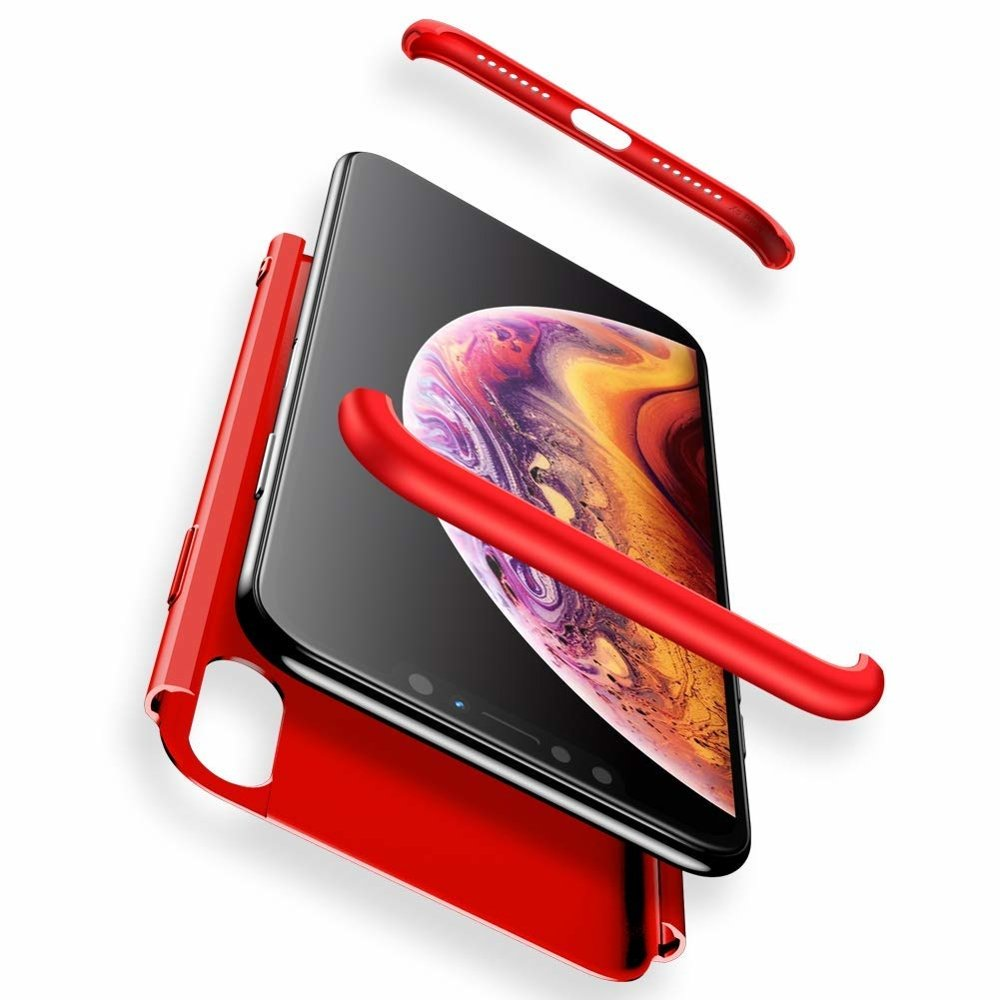 GKK 360 Protection pouzdro pro iPhone XS Max red