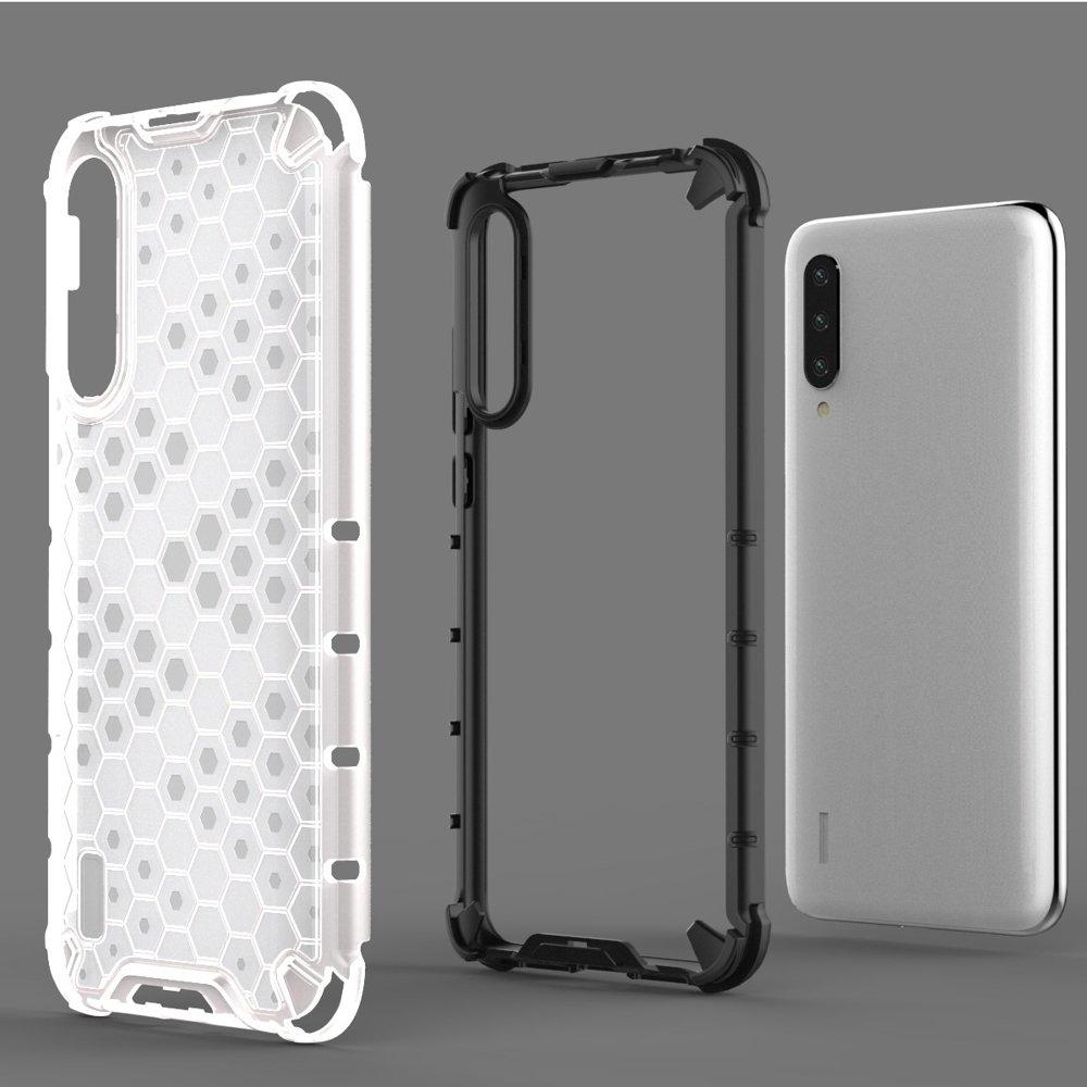 Honeycomb pancéřové pouzdro se silikonovým rámem pro Xiaomi Mi CC9e / Xiaomi Mi A3 blue