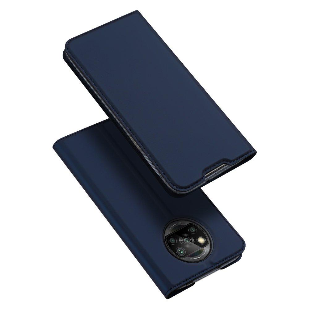 DUX DUCIS Skin knížkové púzdro pre Xiaomi Poco X3 Pro / X3 NFC blue