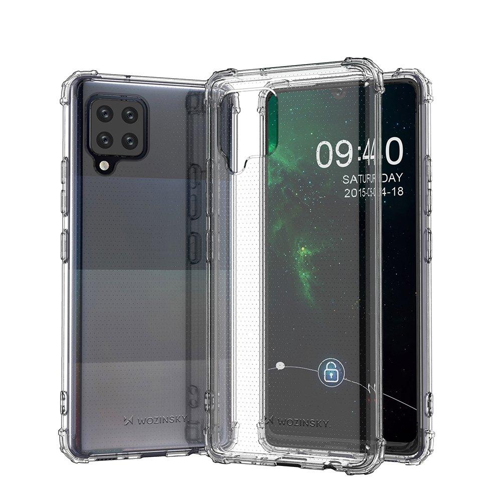 Wozinsky Anti Shock silikonové pouzdro MIL-STD-810G 516.6 na Samsung Galaxy A42 5G transparent