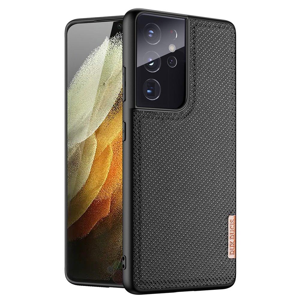Luxusní pouzdro Dux Ducis Fino Nylon ,  Samsung Galaxy S21 Ultra 5G , černá 6934913053133
