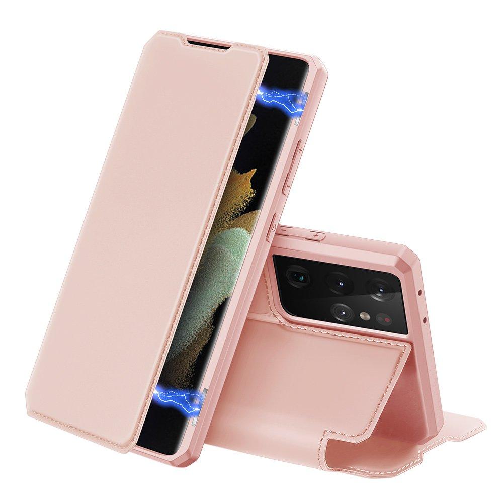 DUX DUCIS Skin X knížkové pouzdro na Samsung Galaxy S21ULTRA5G pink