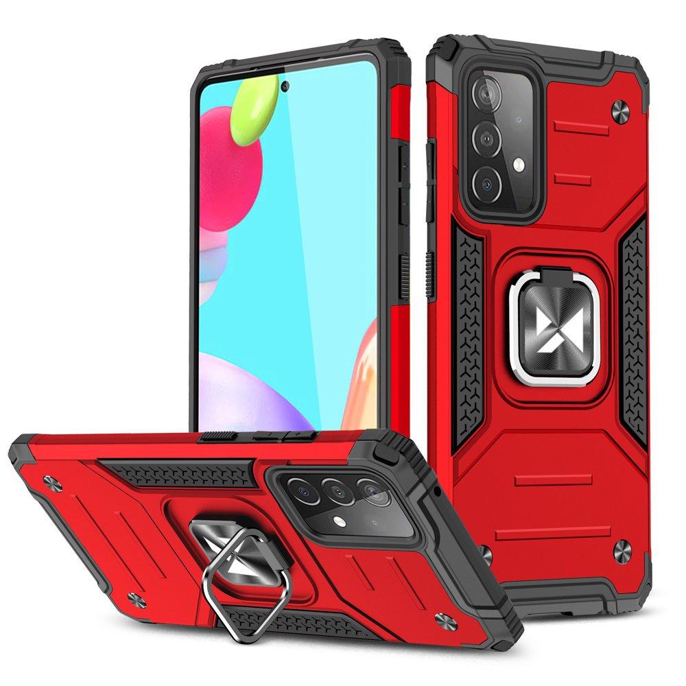 Wozinsky Hybrid pancierové púzdro s krúžkom pre Samsung Galaxy A52 red