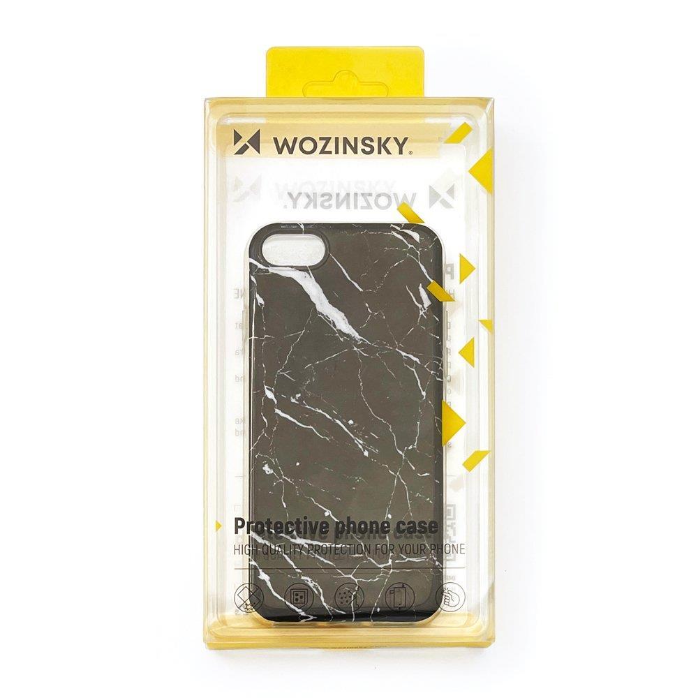Wozinsky Marble silikonové pouzdro pro iPhone 8 Plus / iPhone 7 Plus white