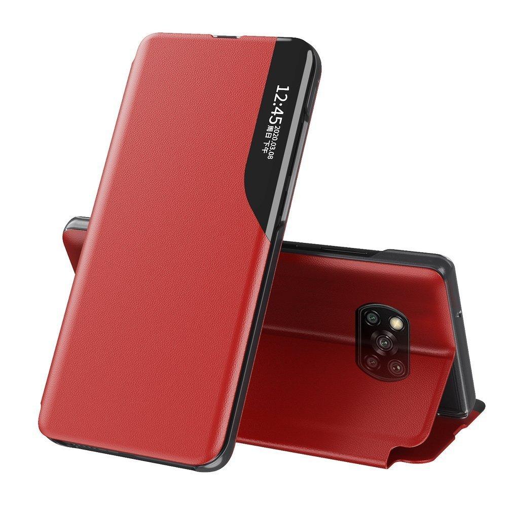 Knížkové pouzdro s imitací kůže na Xiaomi Poco X3 Pro / X3 NFC red