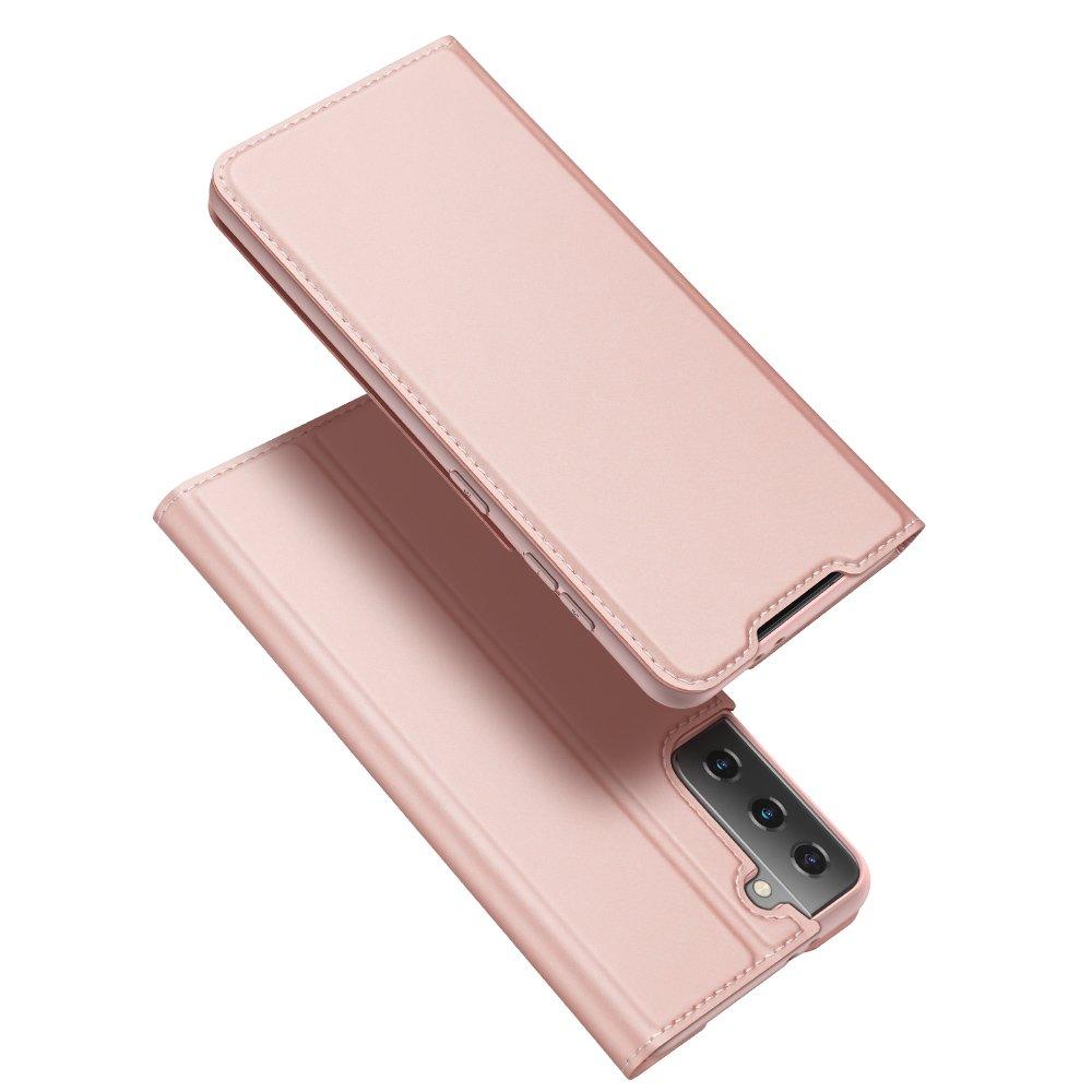 DUX DUCIS Skin knížkové pouzdro na Samsung Galaxy S21 ULTRA 5G pink