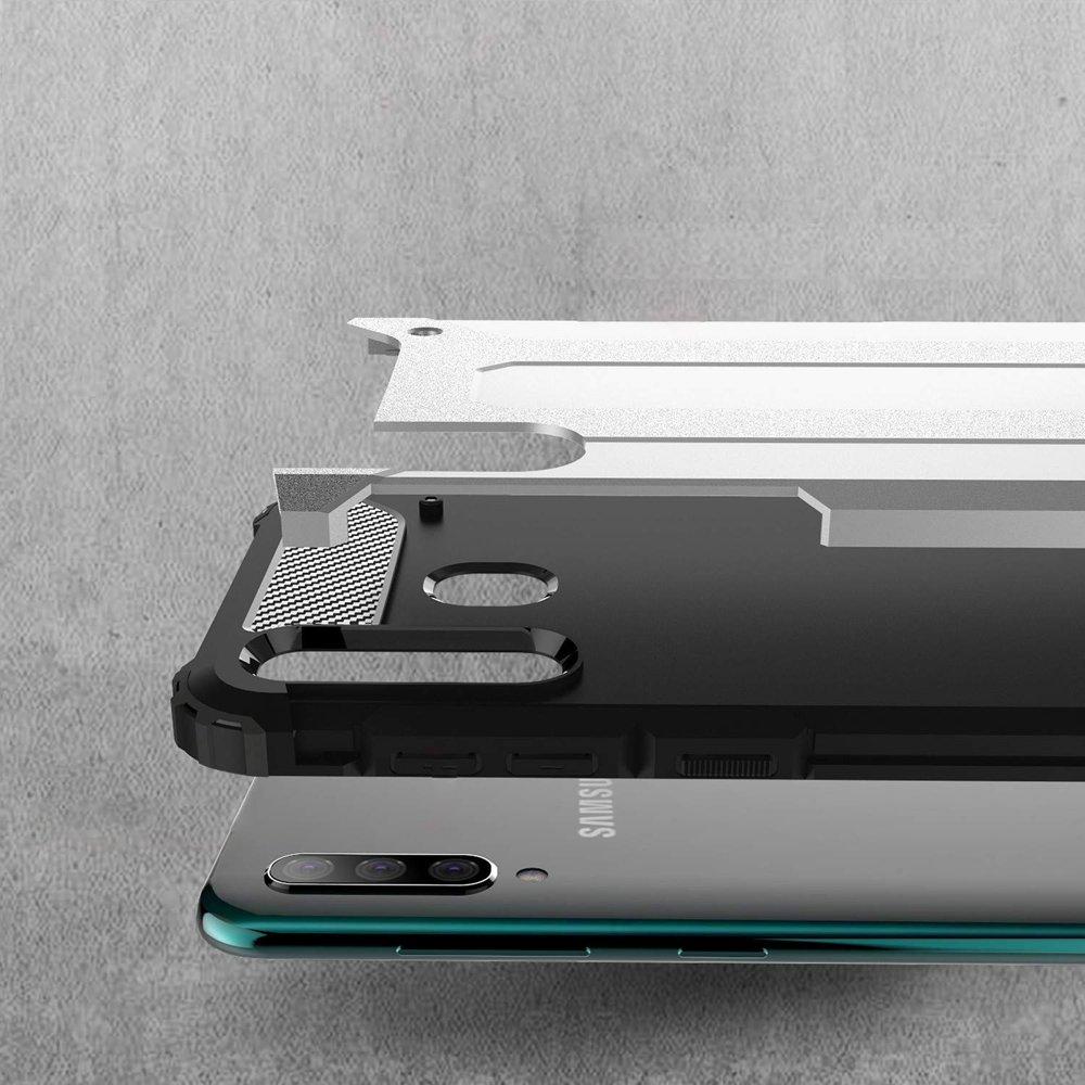 Hybrid polykarbonátové pouzdro Samsung Galaxy A50 silver