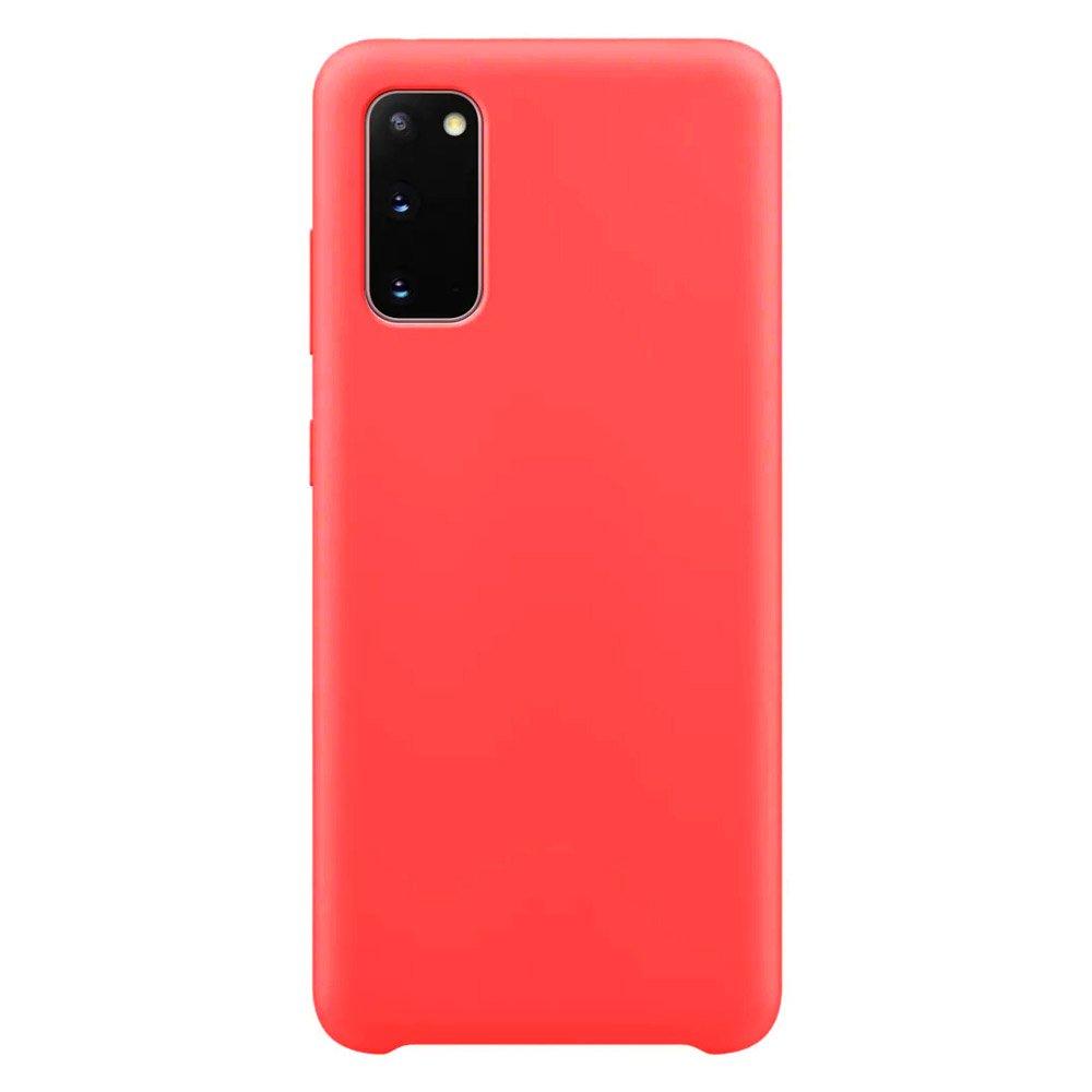 Silikonové pouzdro LUX na Samsung Galaxy S20 red