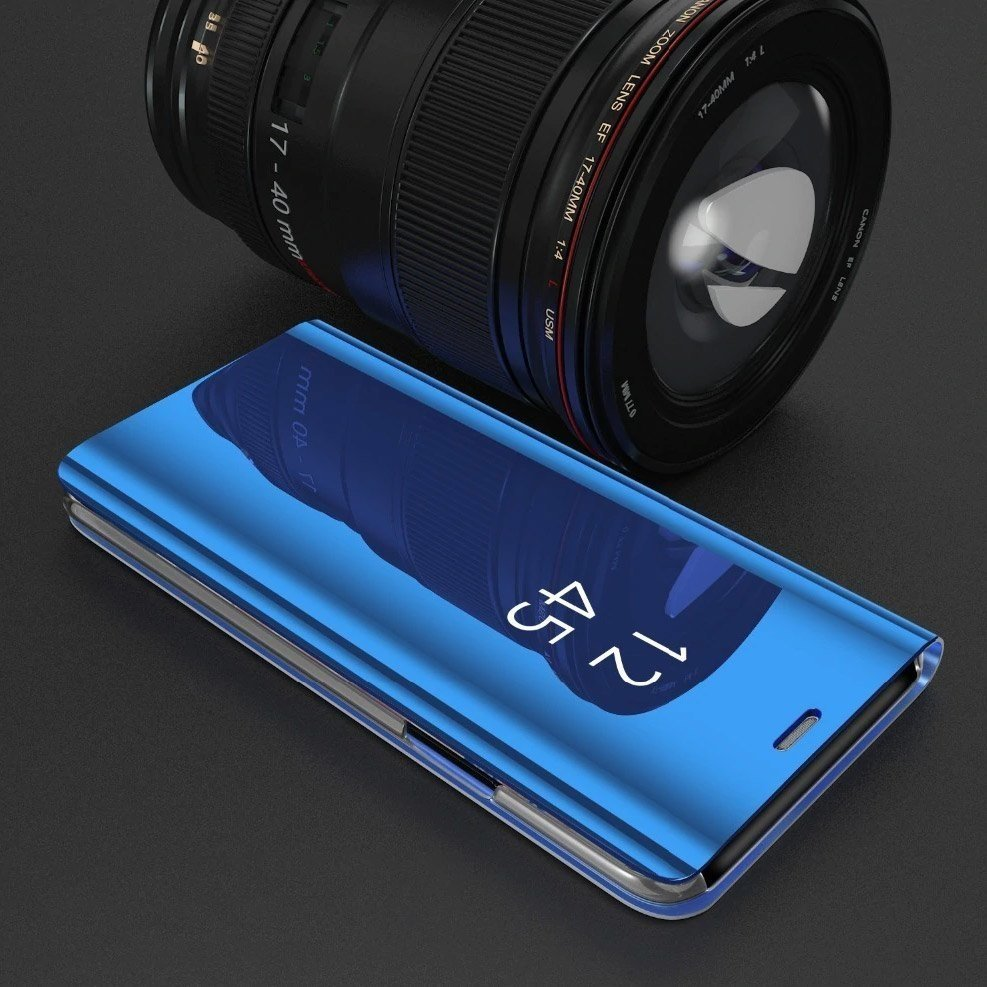Knížkové pouzdro na Huawei P40 Lite black s průhlednou přední stranou