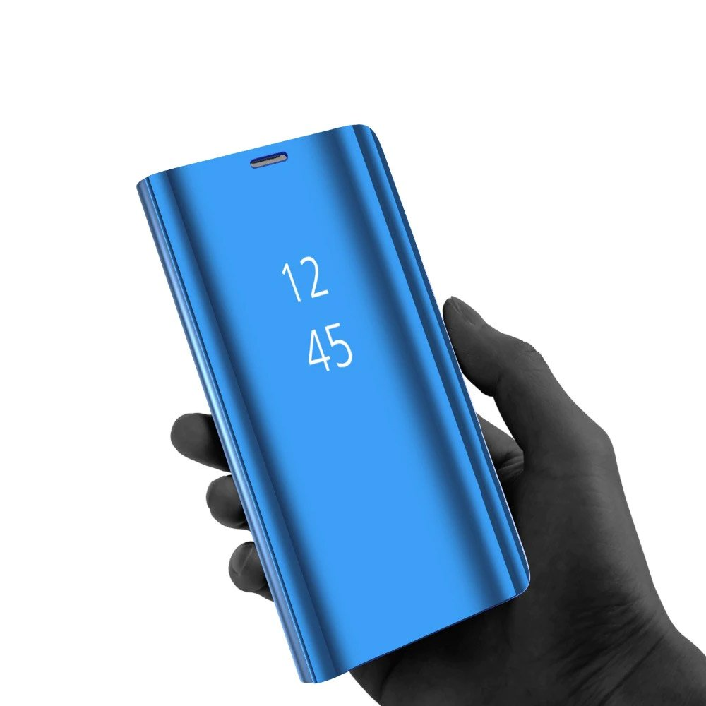 Knižkove púzdro pre Huawei P40 Lite / Nova 7i / Nova 6 SE Lite BLACK s priehľadnou prednou stranou