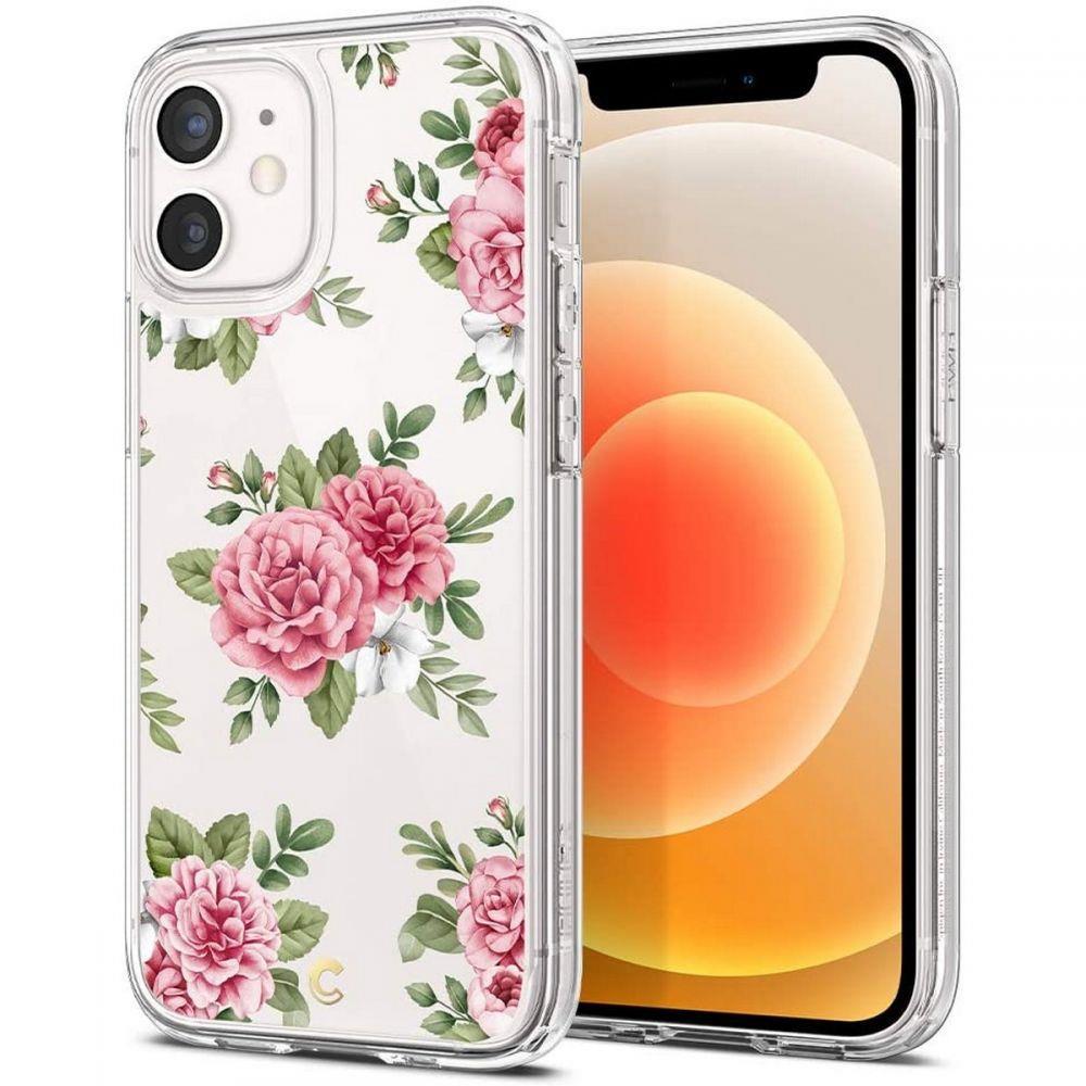 "Spigen Cyrill Cecile silikonové pouzdro na iPhone 12 Mini 5.4"" Pink Floral"