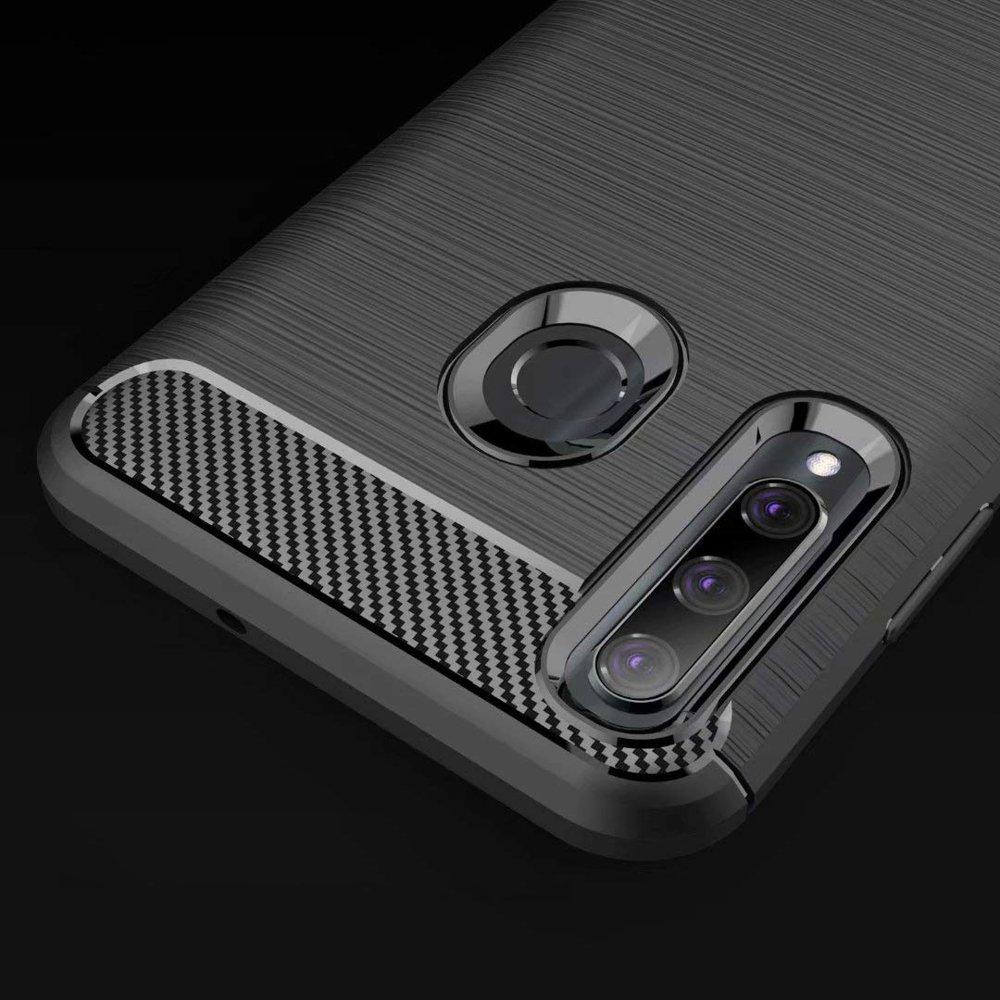 Carbon silikonové pouzdro pro Honor 20 Lite black