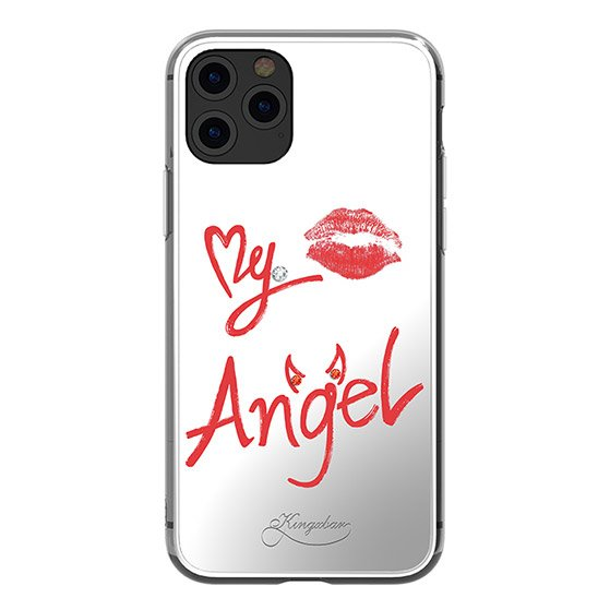 Kingxbar silikonové pouzdro s original Swarovski crystals na iPhone 11 Pro Max Angel Series-Angel
