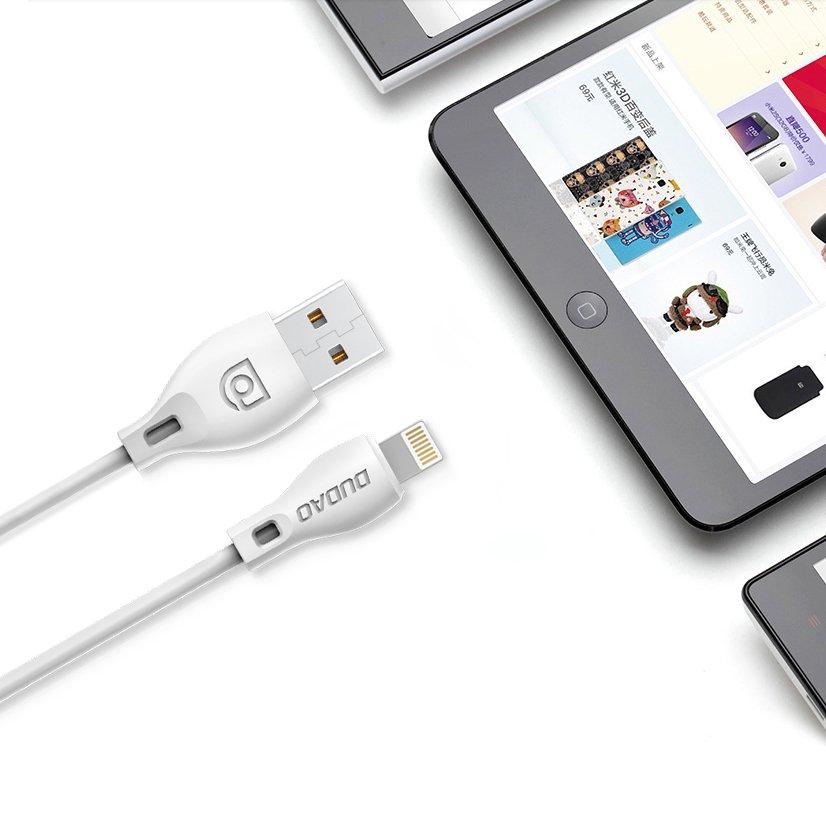 Dudao datový kabel USB/USB-C 2A 2m Bílý L4T