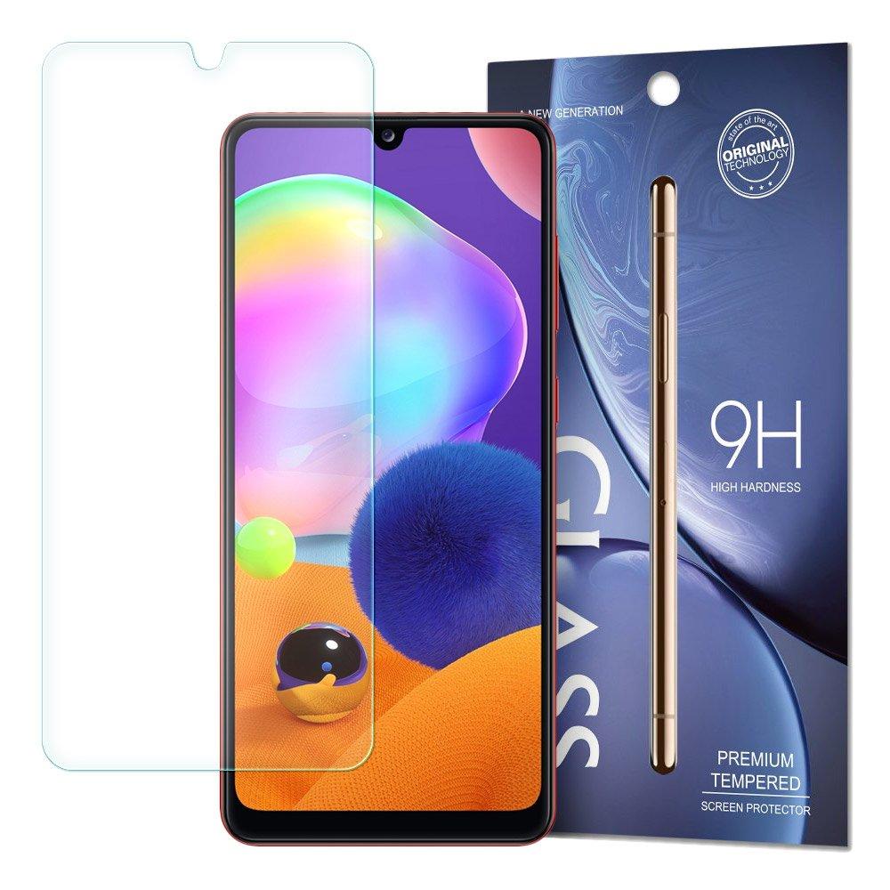 Temperované tvrzené sklo 9H na Samsung Galaxy A31 (baleno v obálce)