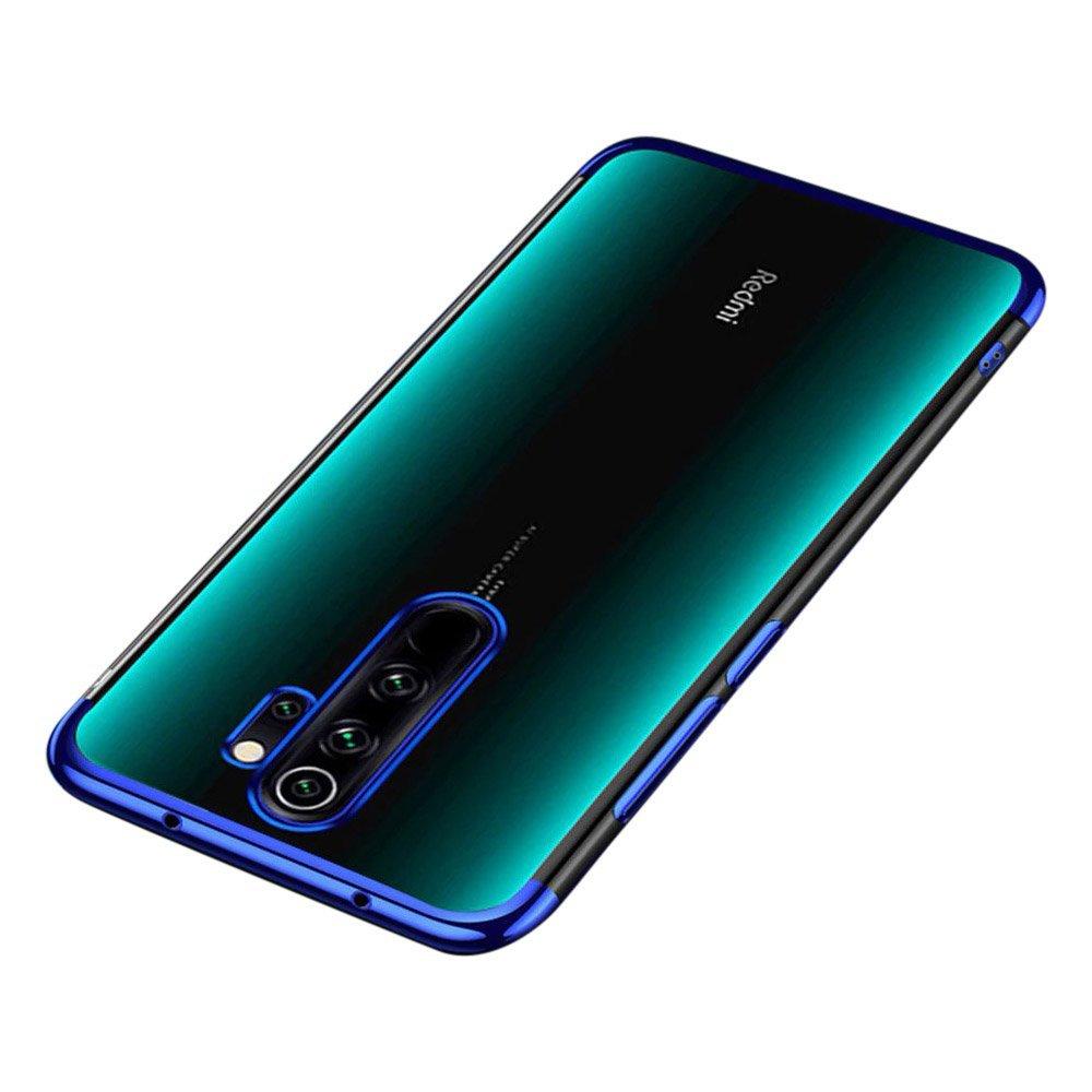 Color Electroplating silikónové puzdro pre Xiaomi Redmi 9 blue