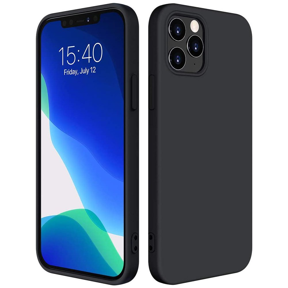 "Silikónové púzdro LUX naiPhone 12 Pro MAX 6,7"" black"