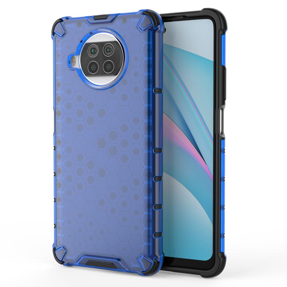 Honeycomb pancéřové pouzdro se silikonovým rámem pro Xiaomi Mi 10T Lite blue