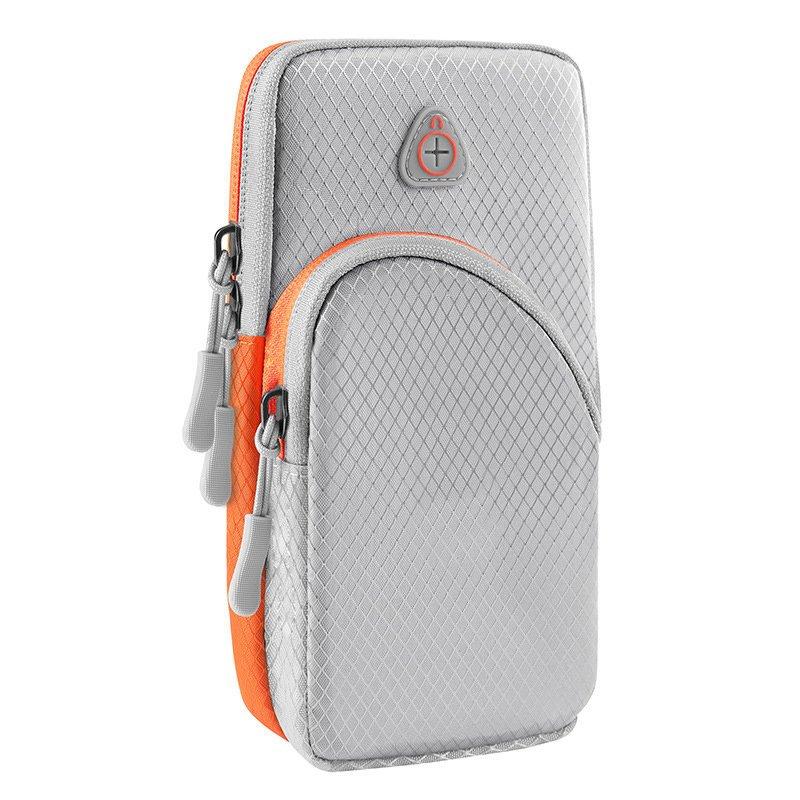 Běžecké pouzdro pro mobil na ruku, univerzální , šedá 9111201926196