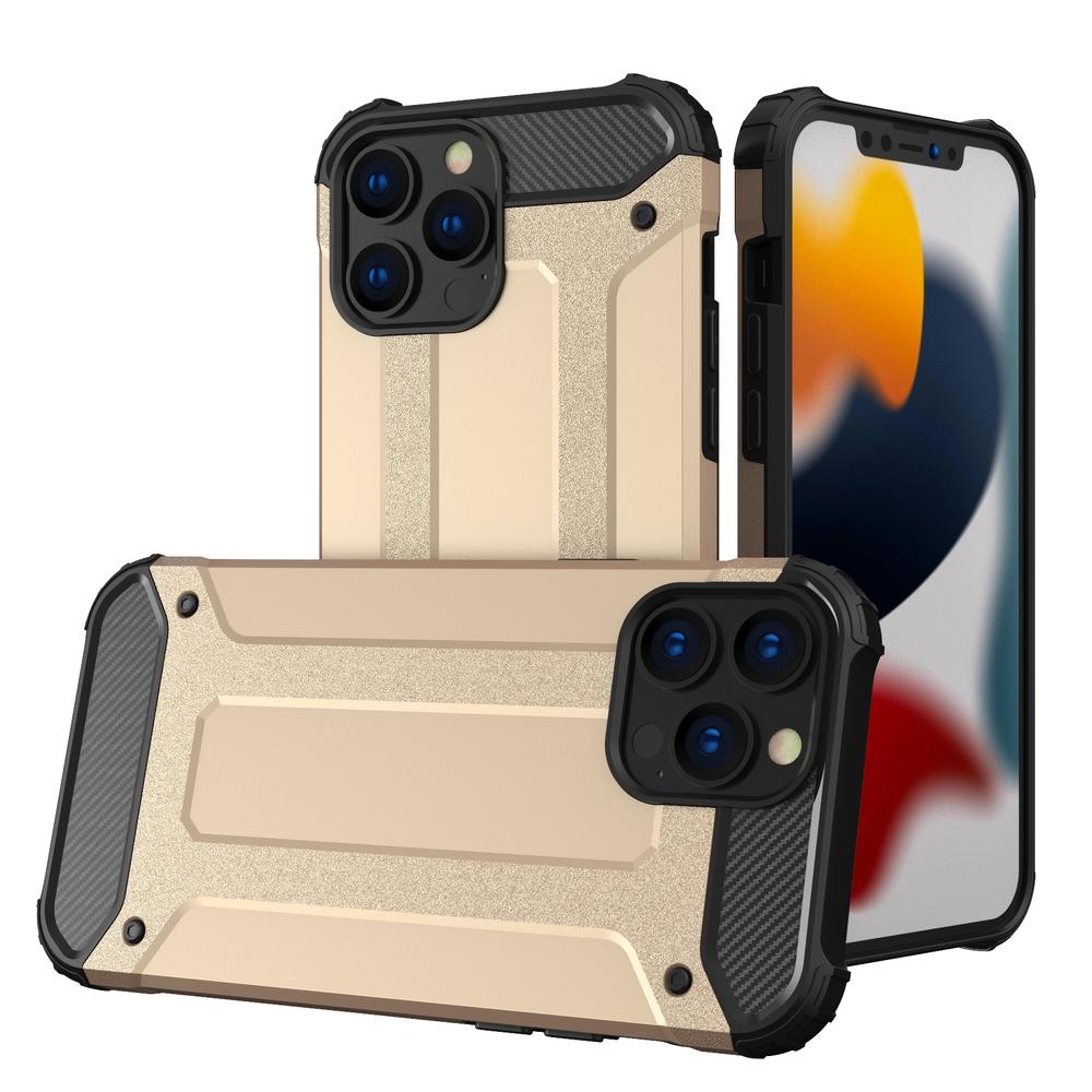 """Hybrid pancéřové polykarbonátové pouzdro naiPhone 13 Pro 6.1"""" golden"""