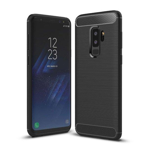 Carbon silikonové pouzdro na Samsung Galaxy S9 Plus G965 black