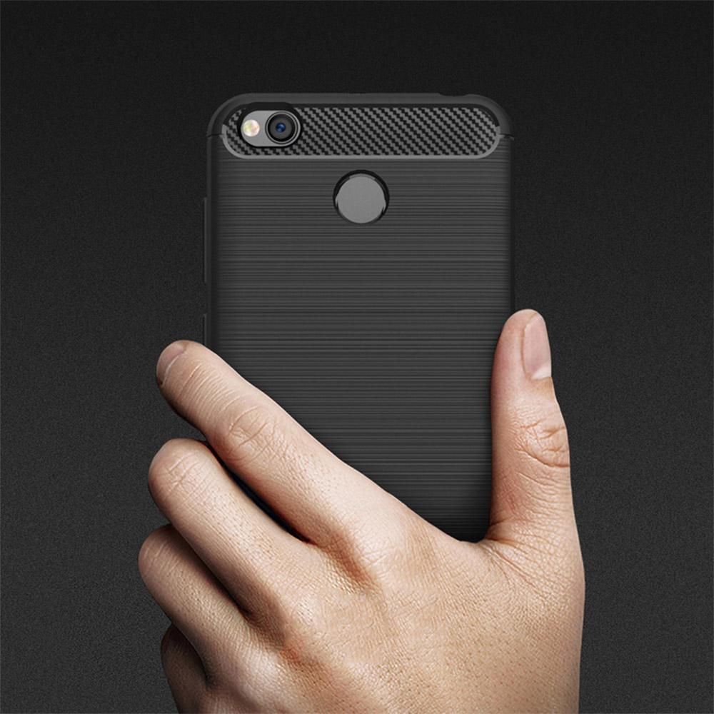 Carbon silikonové pouzdro Huawei P20 Lite black