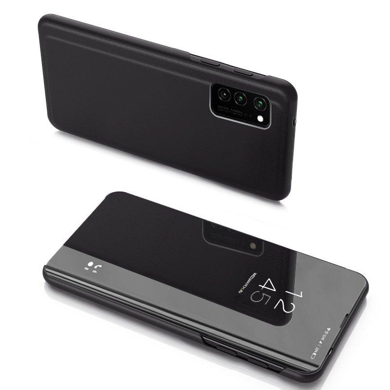 Knižkove púzdro pre Samsung Galaxy Note 20 s priehľadnou prednou stranou black