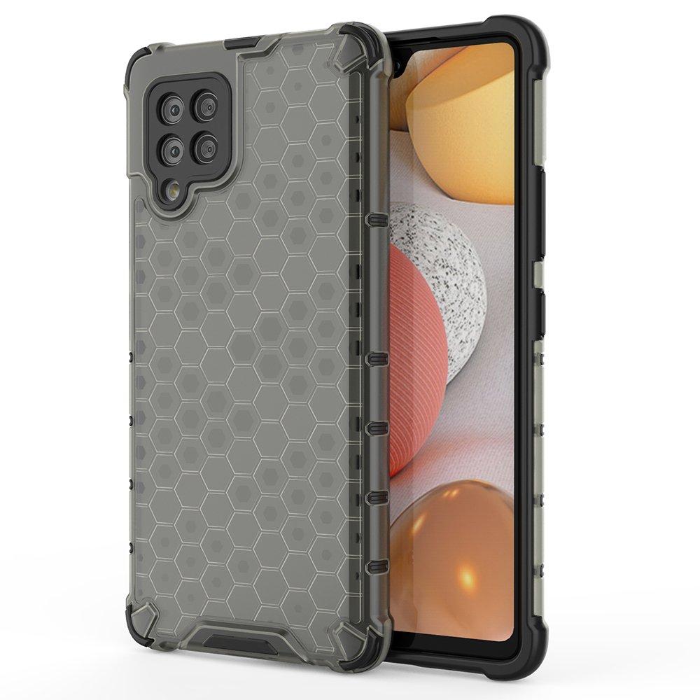 Honeycomb pancéřové pouzdro se silikonovým rámem pro Samsung Galaxy A42 5G black