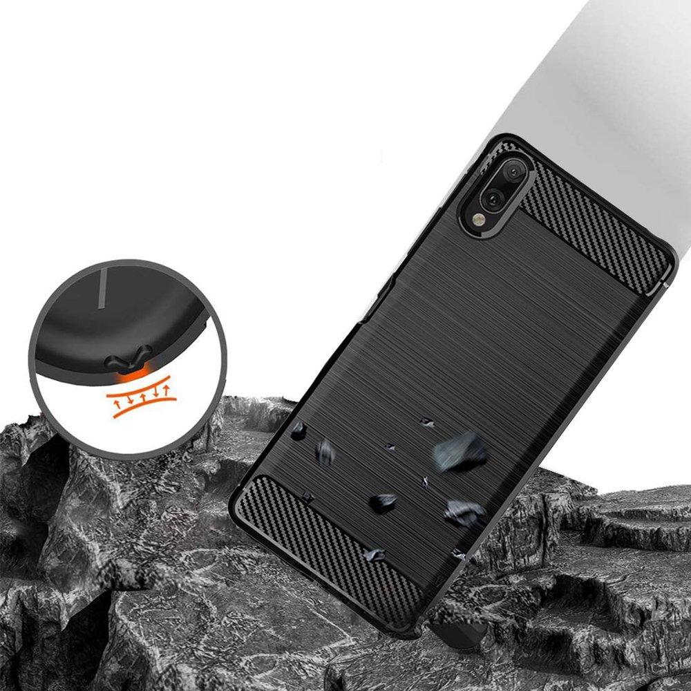 Carbon silikonové pouzdro pro Xiaomi Redmi 7A black