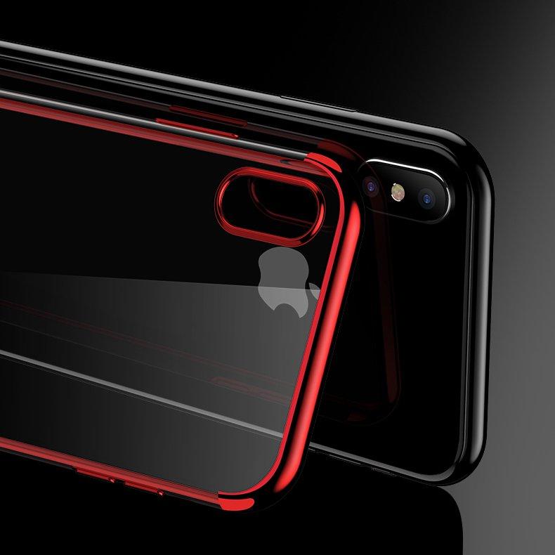 Color Electroplating silikonové pouzdro Samsung Galaxy A40 red