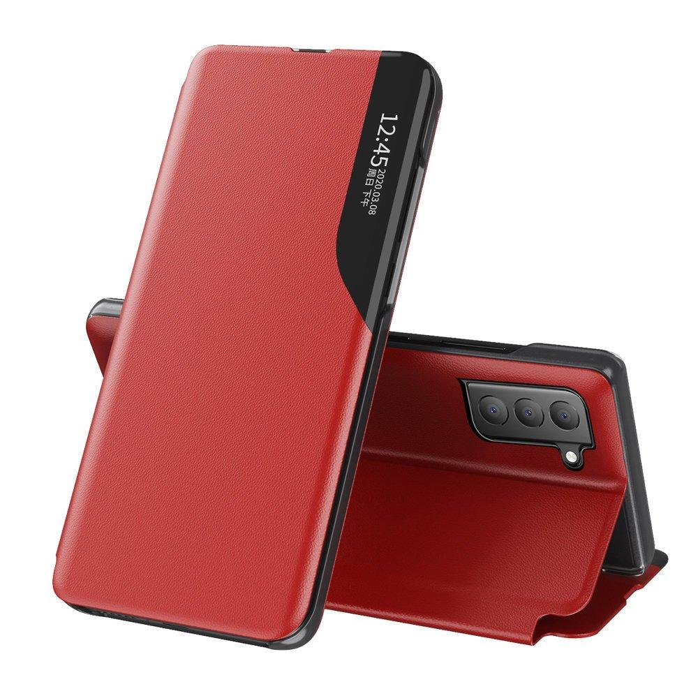 Knížkové puzdro s imitáciou kože preSamsung Galaxy S21 FE 5G red