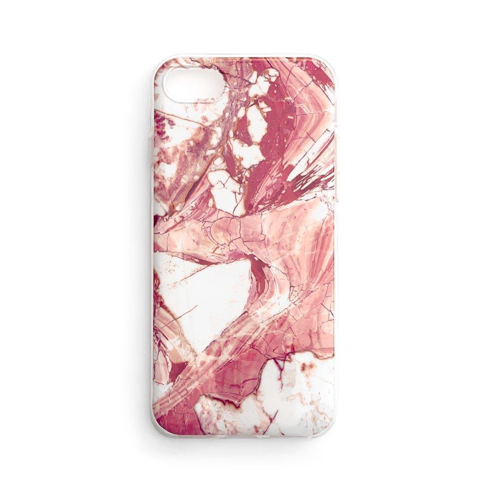 Zadní silikonový kryt na mobil Marble pro Samsung Galaxy S21 FE , růžová 9111201943728