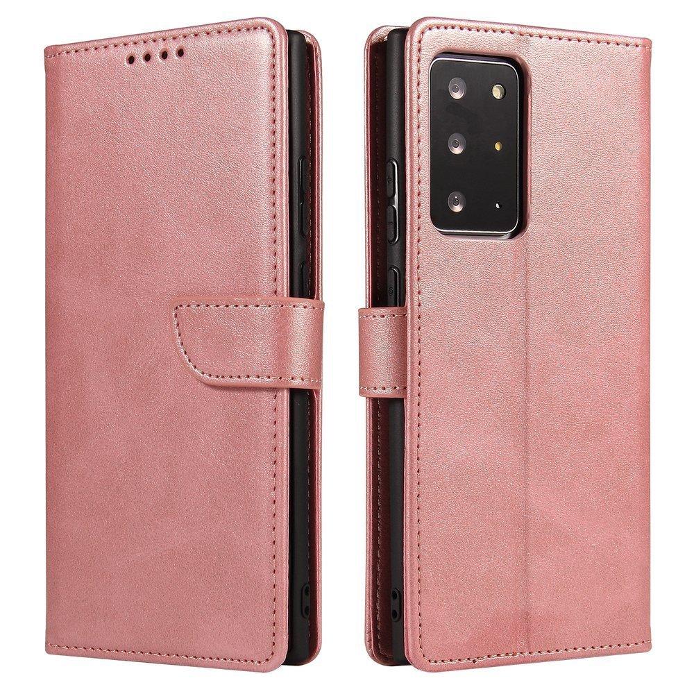 Magnet Case elegantné knížkové púzdro preSamsung Galaxy Note 20 Ultra pink