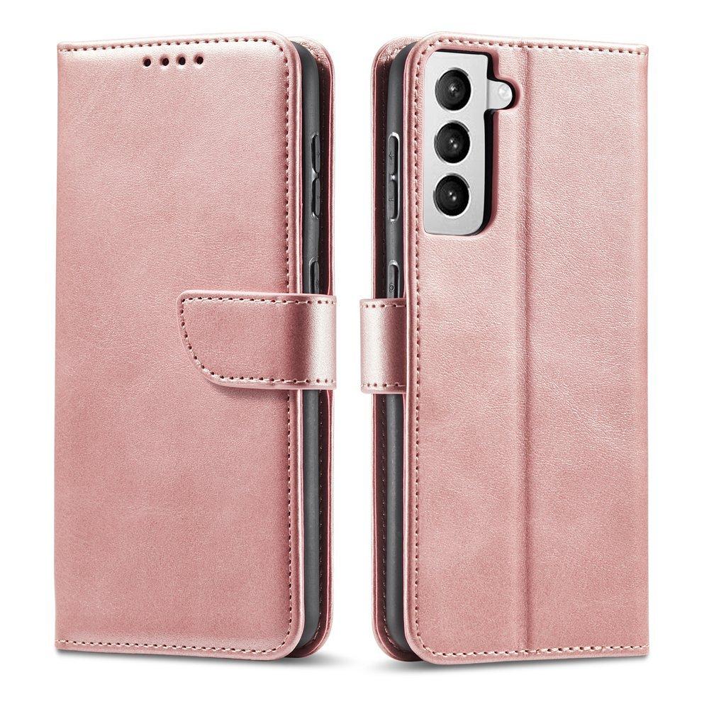 Magnet Case elegantní knížkové pouzdro na Samsung Galaxy S21 ULTRA 5G pink